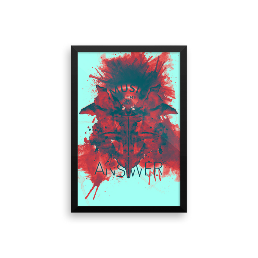 Music iNkBLOT • Rojo Portrait Gallery Piece - Chosen Tees