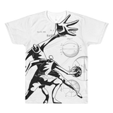 Patent B-Ball • Fellas - Front & Back All Over Print White T-Shirt - Chosen Tees