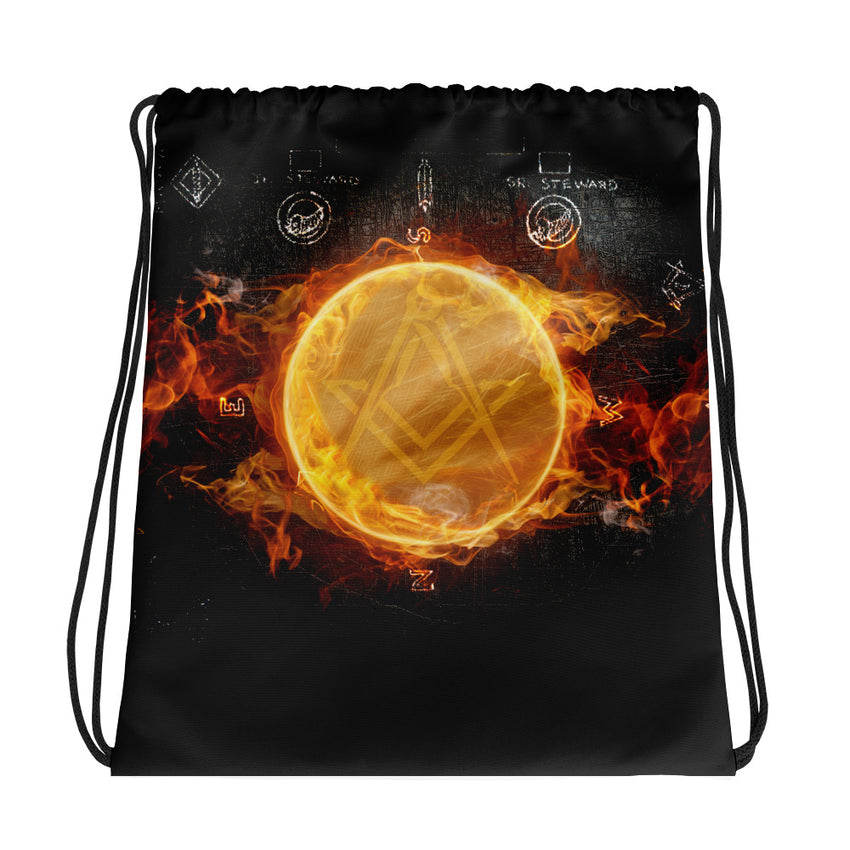 LiGHT Front & Back Print Drawstring Bag - Chosen Tees