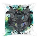 Music iNkBLOT • Front & Back Print Square Pillow - Chosen Tees