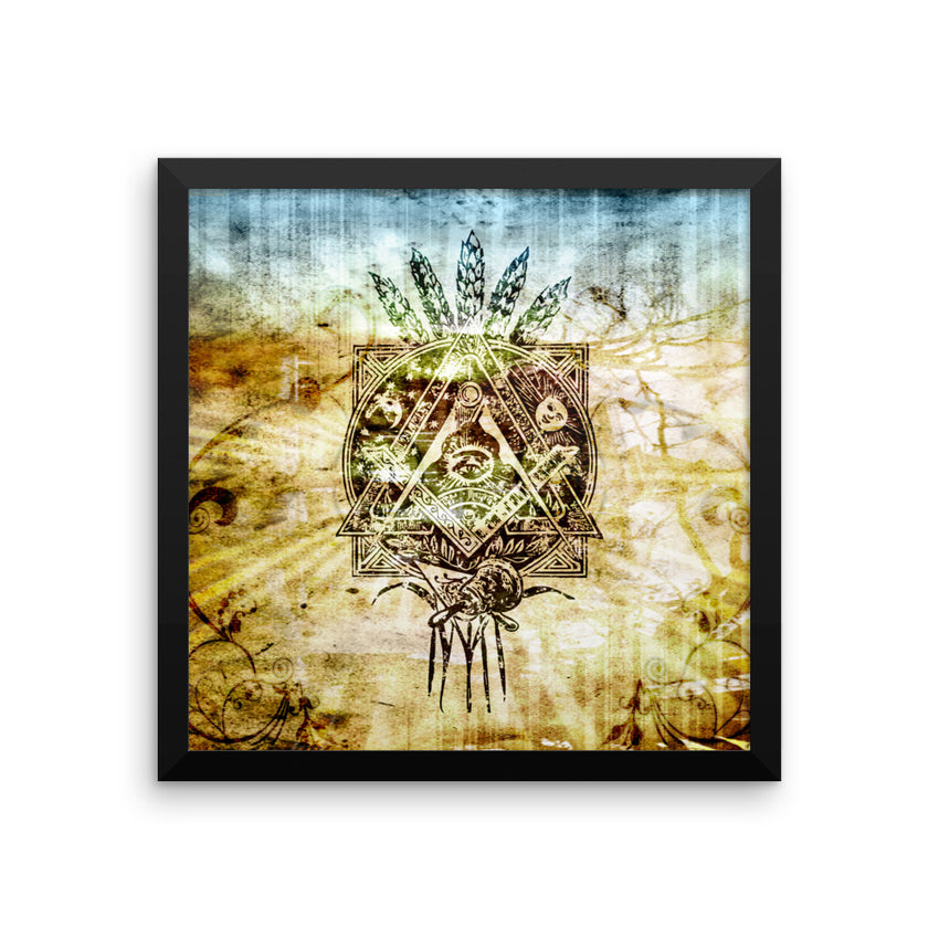 Mason Grail LiGHT Framed poster - Chosen Tees