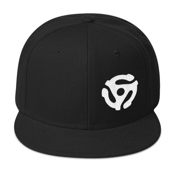 45-RPM Adapter Embroidery SnapBack - WHITE - Chosen Tees