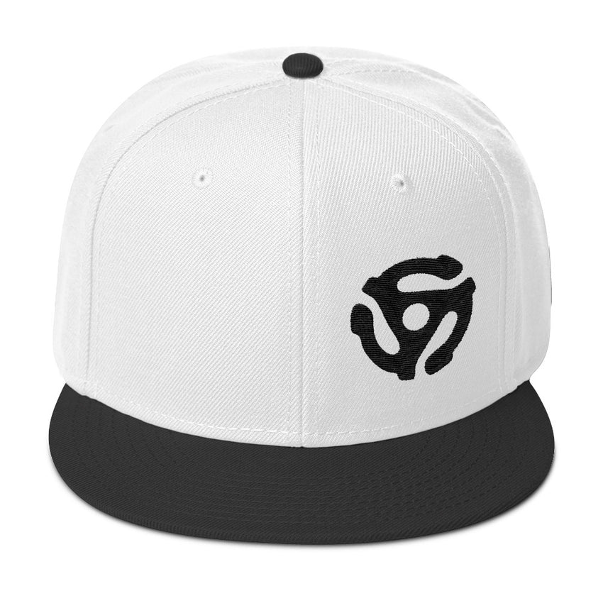 45-RPM Adapter Embroidery SnapBack - BLACK - Chosen Tees
