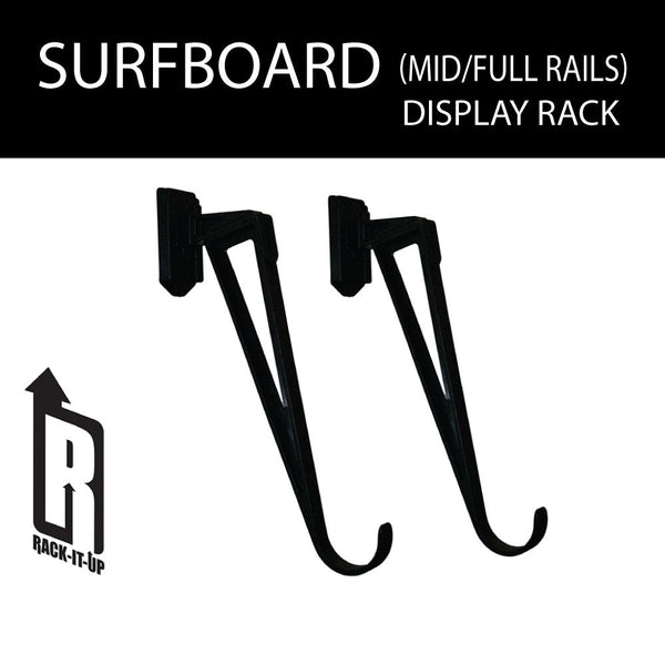 Surfboard Display Rack Mid-Full Rail
