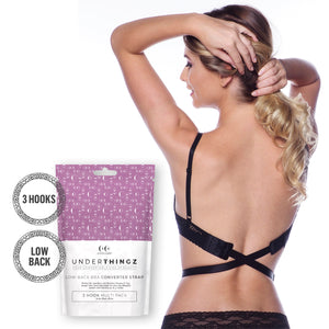 Low Back Bra Converter, Nude or Black in 2, 3 Hook, 1 pc - Coco's Closet