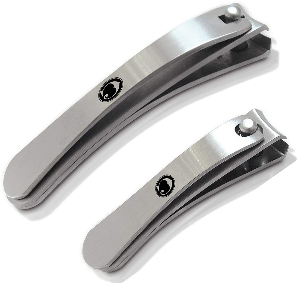 Coco's Closet Professional Stainless Steel Nail Clipper 2 Piece Set with Travel Pouch - Coco's Closet