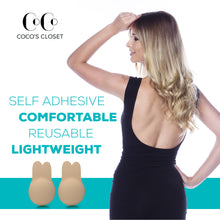 Strapless Backless Bra with Lift - Nipplecovers Adhesive Sticky Pasties in 2 sizes - Coco's Closet