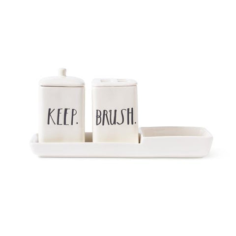 Stem print powder room set Rae dunn by magenta