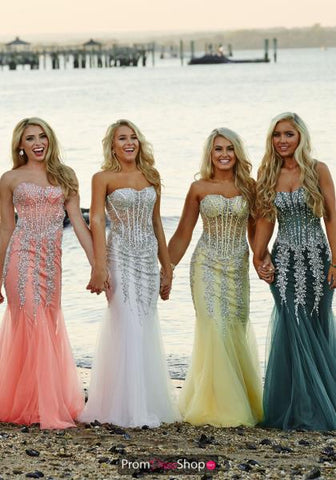 Coral Mermaid Prom Dress Jovani 5908
