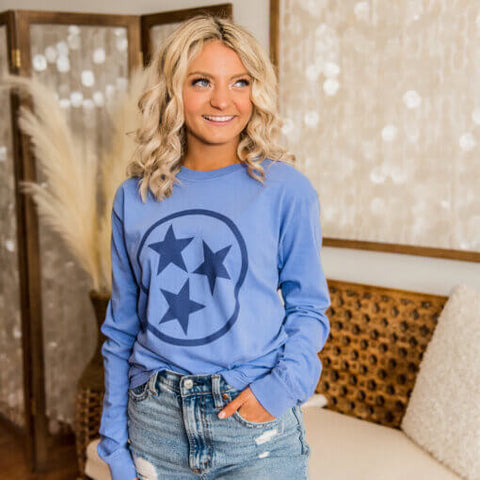 Blue Tennessee Tristar Long Sleeve T-Shirt
