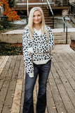 Winter Ivory Leapard sweater