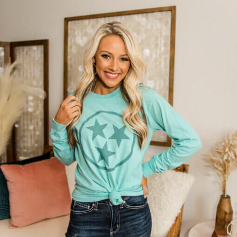 Mint Tennessee Tristar Long Sleeve T-Shirt