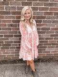 Blush Snakeskin Dress