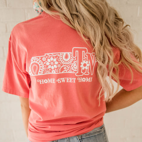 Home sweet home TN tee coral all