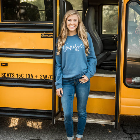Blue Fall Tennessee Style Crew Sweatshirt