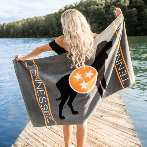 Smokey Dog Beach towel