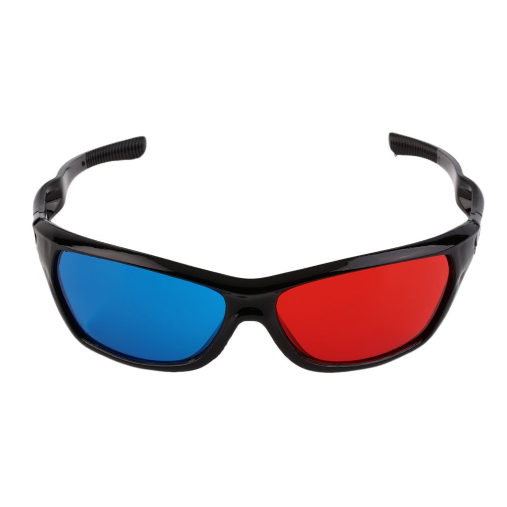 Universal 3D Plastic Glasses Black Frame Red Blue 3D Vision Glass