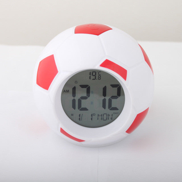 Football Soccer LED Alarm Clock with Repeating Snooze