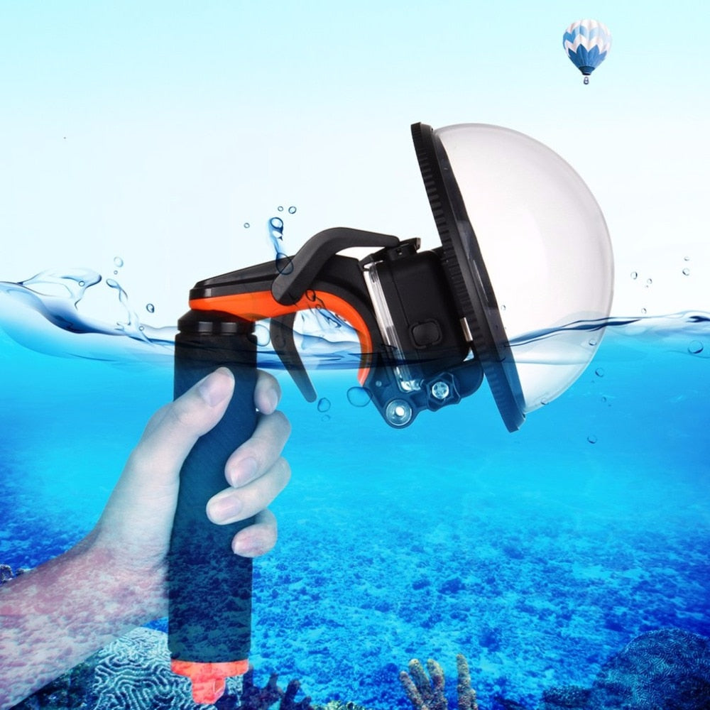 GoPro - PULUZ Dome Port Waterproof Shutter Stabilizer Shell Mask with Pistol Trigger