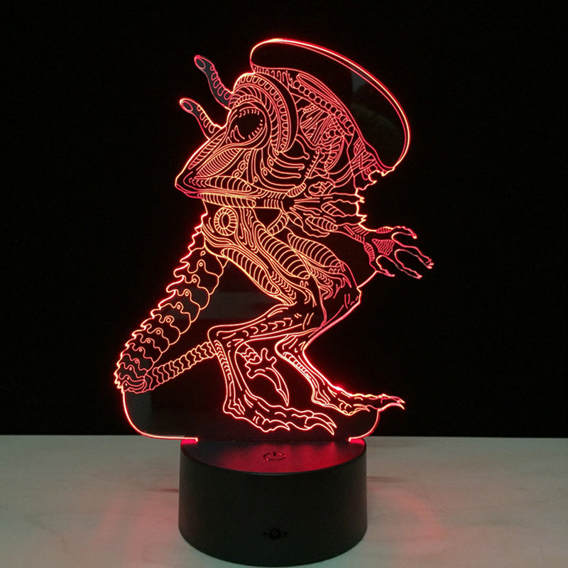 7 Color Remote Control Touch Alien Night Light