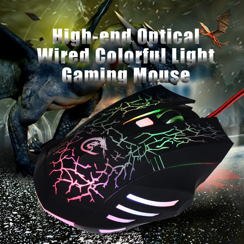 Rechargeable USB Gaming Mouse Mute Button Silent Click