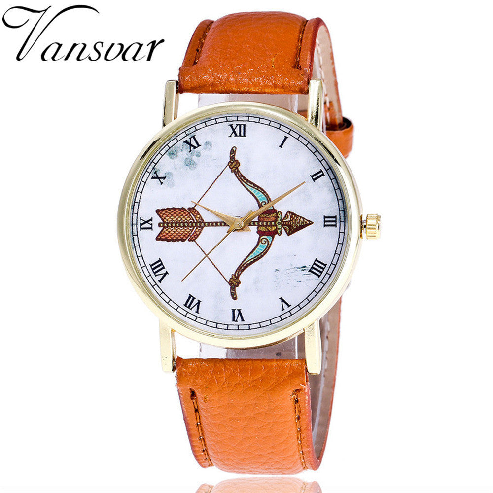 Archery Patternlor Male And Female Strap Wrist Watch