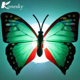 LED Night Light Colorful Changing Butterfly