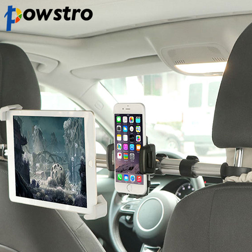 "7-11"" Aluminum Tablet Car Holder Car Back Seat Tablet Car Mount Stand Stents For iPad Mini 2 3 4 Air 2 For Samsung Xiaomi Kindle"