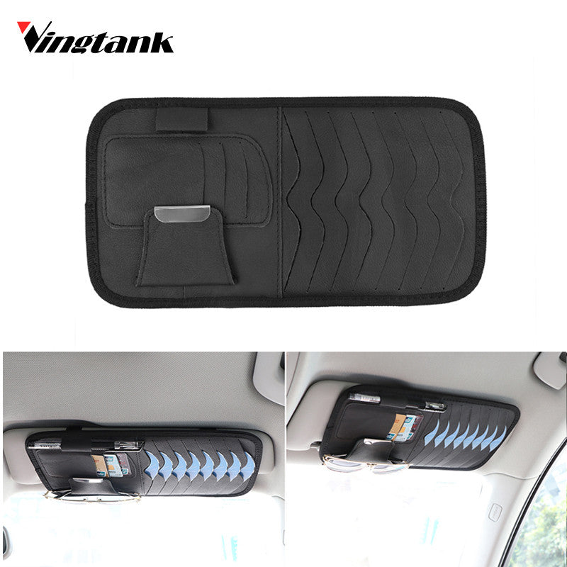 Sun Visor CD Detachable Portable DVD Disk Storage Organizer