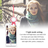 Smartphone Selfie Lights Fill Ring for iPhone or Samsung