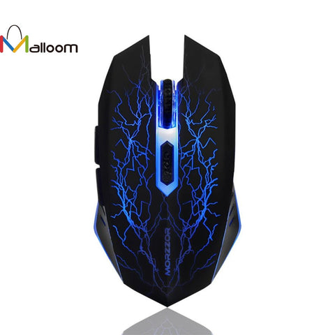 Rechargeable LED Optical Wireless Gaming Mouse For PC, Mac or Laptop