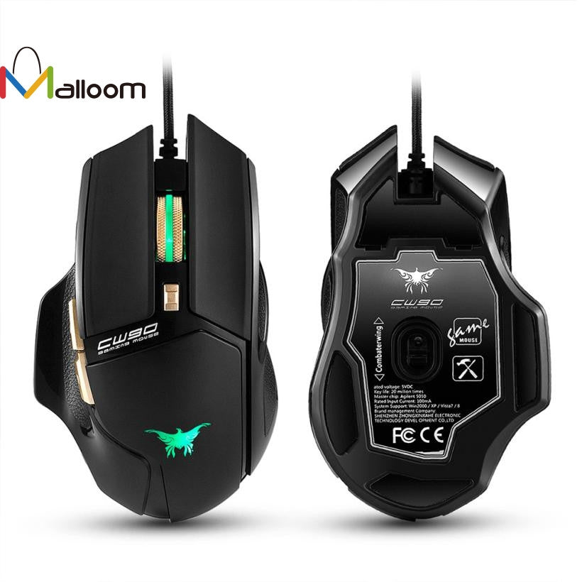 Mouse USB LED Combaterwing CW90 3800 DPI Optical Wired Gaming Mouse