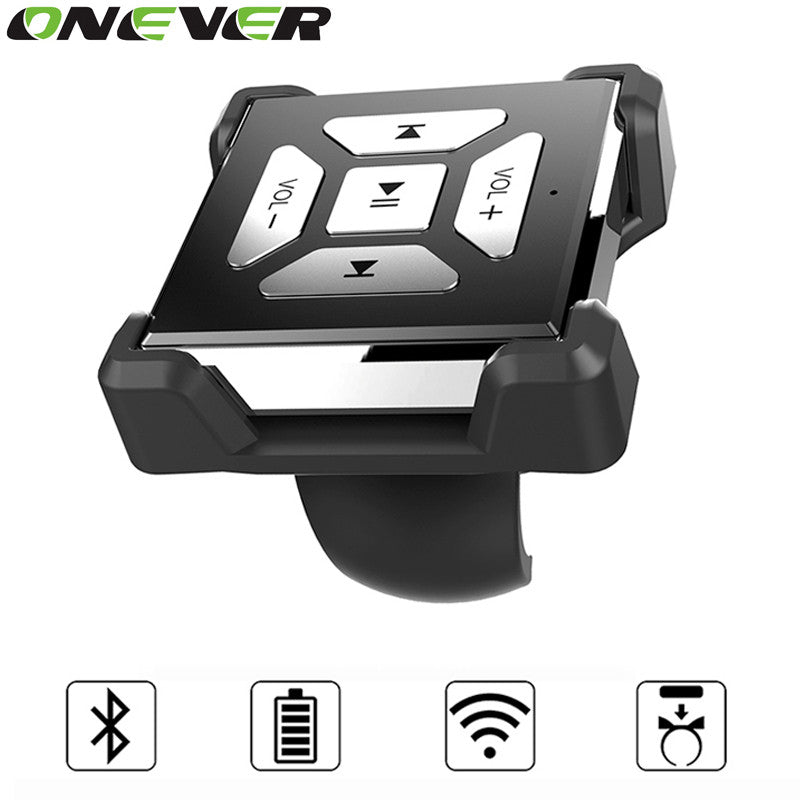 Onever Portable Wireless Bluetooth Audio Remote Control Button For Smartphone Media Music Bluetooth Steering Wheel Remote Control