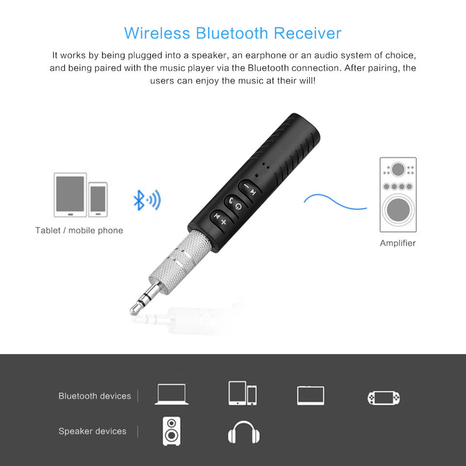 Mini Bluetooth Audio Receiver Bluetooth Transmitter 3.5mm Jack