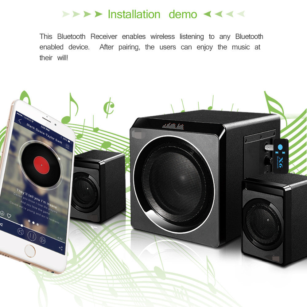 Handsfree Bluetooth Car Kit Music Adapter Bluetooth Car AUX