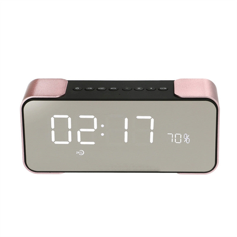 Radio Alarm Clock Bluetooth Speaker with LED Dimmable Screen Stereo Sound Bass Speaker