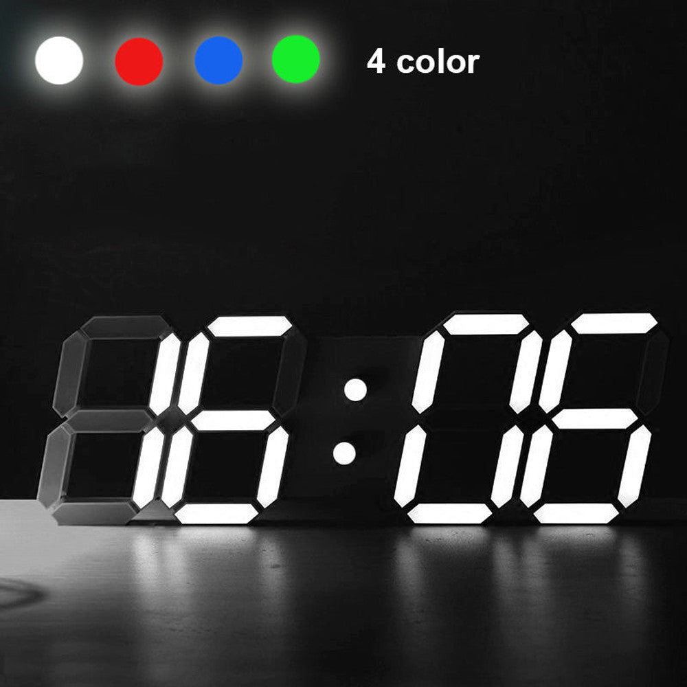 Digital LED Table Desk Night Wall Alarm Clock 24 or 12 Hour Display
