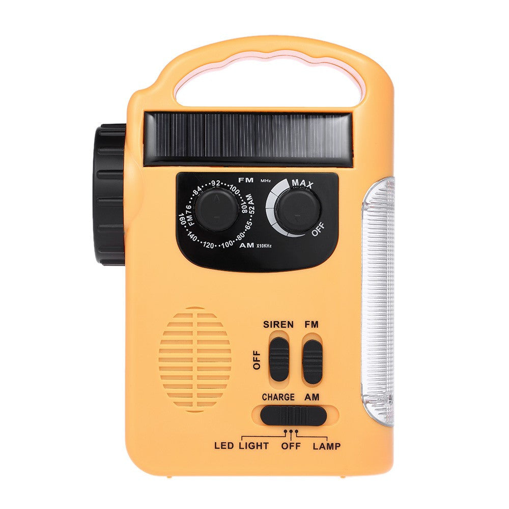 RD339 Solar Energy FM AM Radio w/ LED Flashlight
