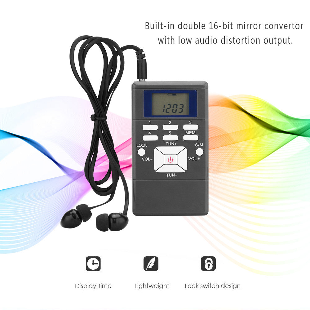 Master Portable Mini Digital FM Shortwave Radio Receiver