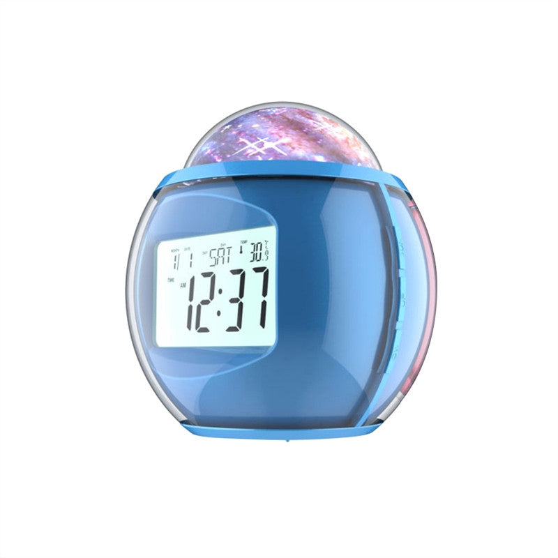 Digital Alarm Clock Multifunctional Clock with Calendar Sound Projecting Lamp