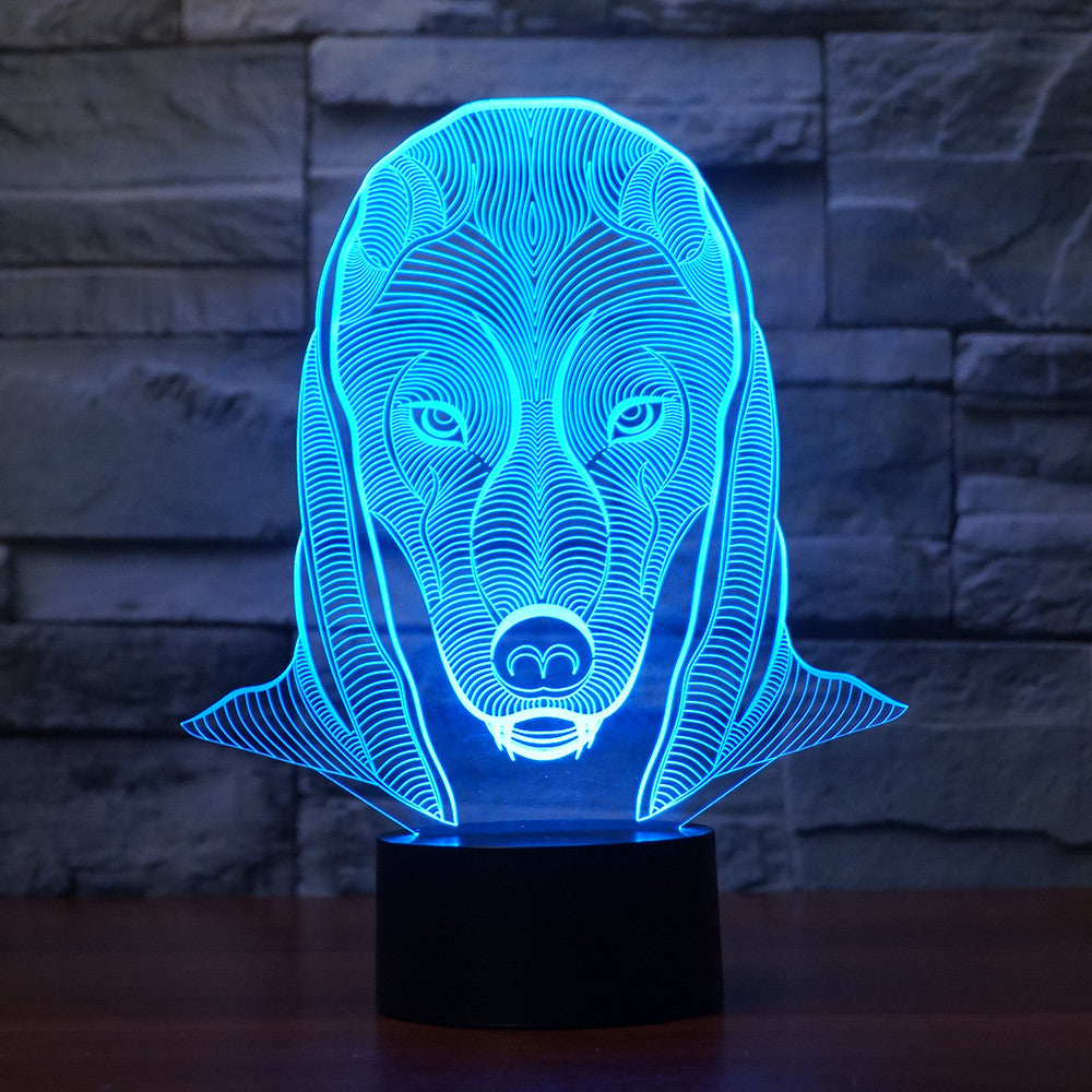 3D 7 Color Illusion LED Night Light  with Touch Switch