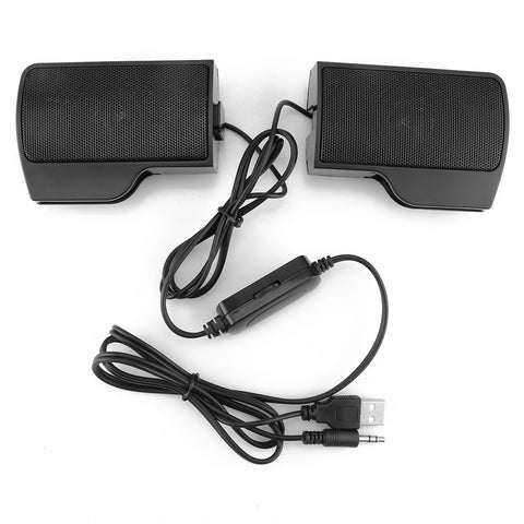 Mini Clip-On USB Powered Stereo Multimedia Laptop Speaker Soundbar