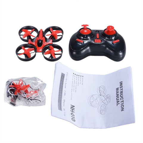 NIHUI NH010 Mini Drone 2.4G 6-Axis Gyro Headless Mode Remote Control Quadcopter (Red)