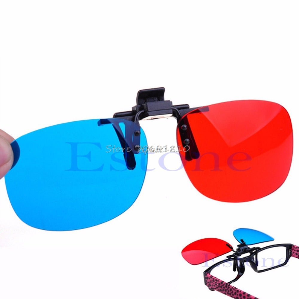 New Red Blue Glasses Hanging Frame 3D