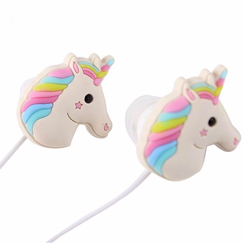 Unicorns Universal Stereo MP3 Phone In-ear Cartoon Rainbow Horse Earphones