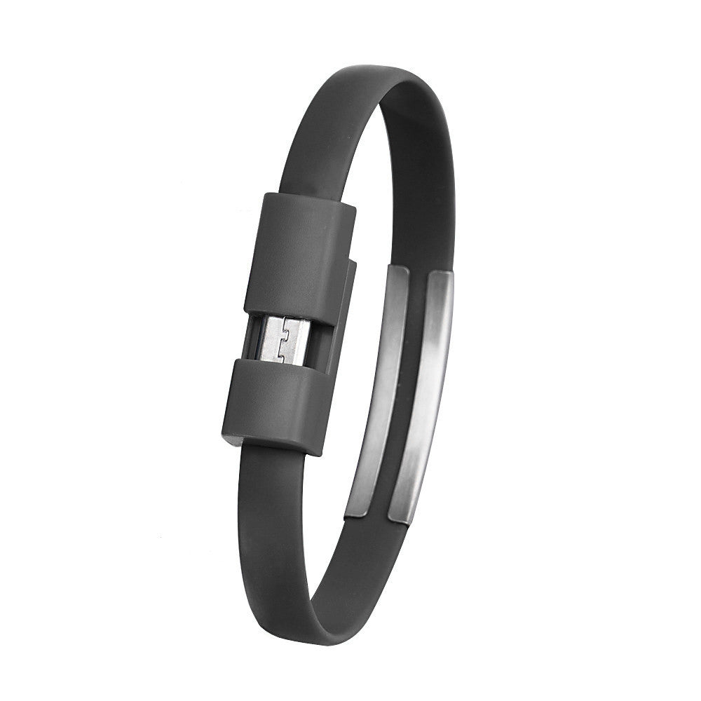 Wristband Micro USB Cable Charger Charging Data Sync For Android Cell Phone