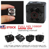 HD 1080P Mini Spy Hidden Camera Portable Video Recorder with  Motion Detection