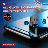 iPhone Privacy Screen Protector with Anti Spy Tempered Glass