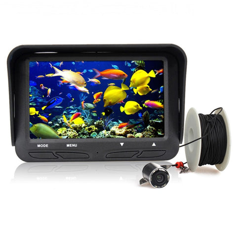 "Fish Finder 4.3"" 30m LCD Screen with HD Night Vision Video Camera"