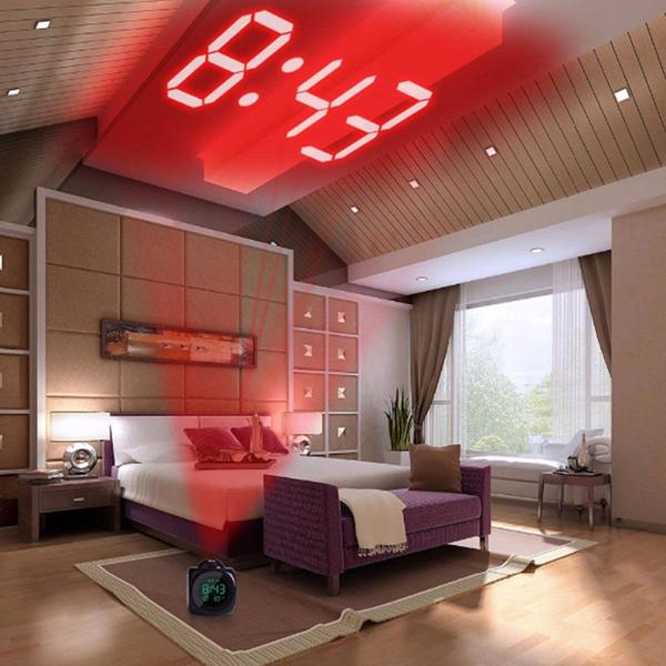 LCD Display Digital Projection Voice (optional) Alarm Clock with built in Thermometer